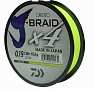 Шнур Daiwa J-Braid fluo yellow(Дайва) 0.19 мм.